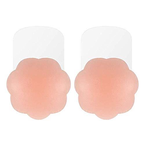 MELLIEX Cubierta de Pezón - Pezoneras Mejorado Silicona Push Up Breast Lift Sujetadores Adhesivos Invisibles Reutilizable Pezón Levantamiento Cubierta