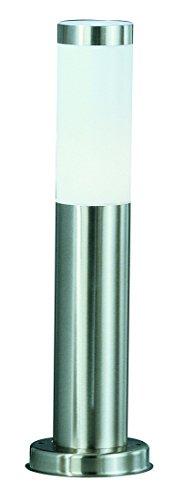 Globo Außenleuchte Sockel Edelstahl Zylinder opal exklusiv 1 x 60W E27 IP44, H: 45 cm ø 13 cm bzw, 7.6 cm 3158