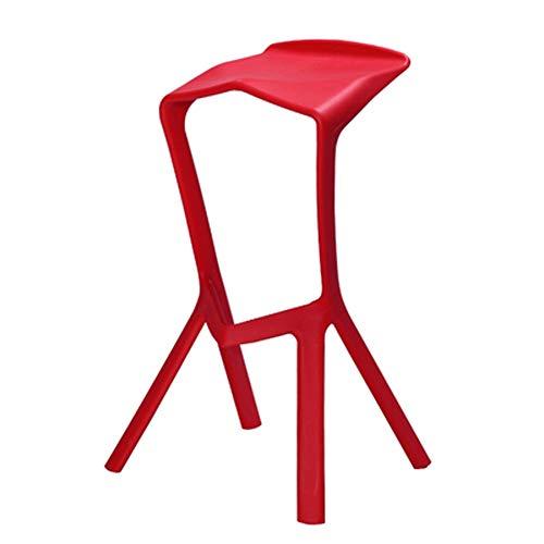 Home Care barkruk barkruk, haaivis mond-barkruk - creatieve plastic stoel voor thuis/bar/kassa/receptie/restaurant/café zwart 44 x 40 x 82 cm