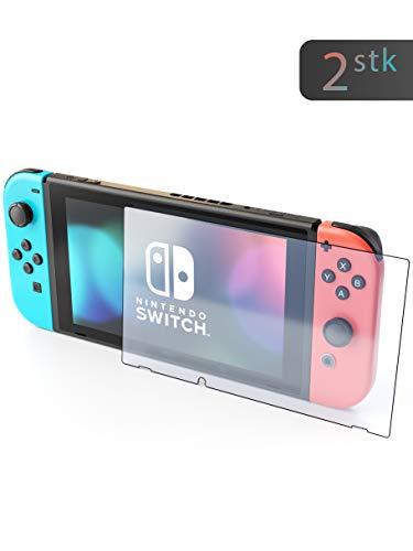 innoGadgets Panzerfolie für Nintendo Switch (2X) | Extrem dünn, Ultra hart (9H) und 100% transparent | Displayschutz, Schutzfolie – Einfaches Anbringen ohne Bläschen
