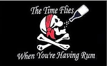 Top Brand vlag piraten doodskop, Time Flies When You're Having Rum