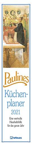 Paulines Küchenplaner 2021 - Streifenplaner - Wandplaner - Küchen-Kalender - 11,3x49,5