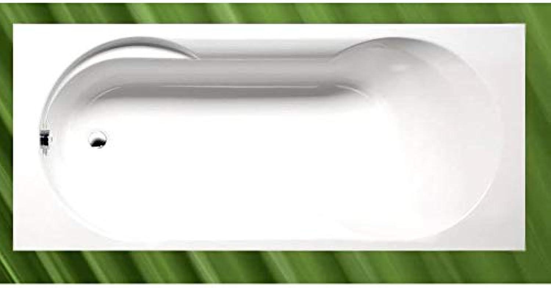 Badewanne SATINA 180x80cm mit Ablaufgarnitur und Wannenfüssen