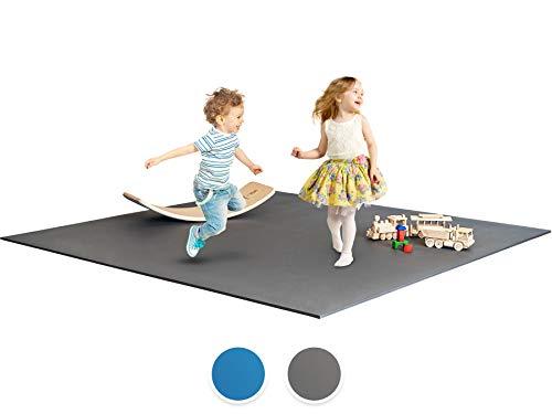 Ehrenkind® Krabbelmatte PRO   Extra dick und soft   Made in Germany   Oeko-Tex 100   Größe 180x120cm GRAU