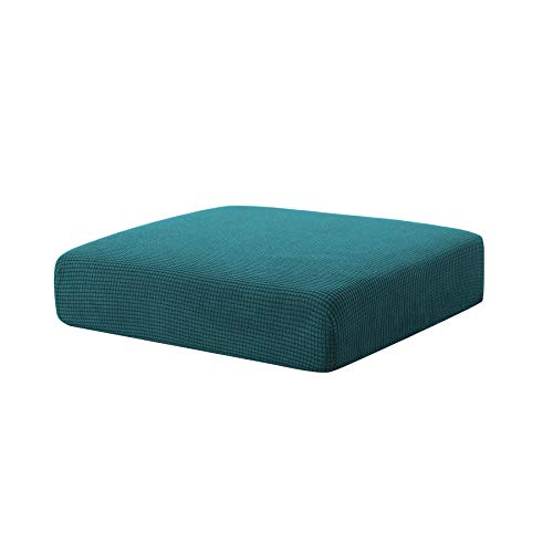 Hokway Stretch Couch Cushion Slipcovers Reversible Cushion Protector Slipcovers Sofa Cushion Protector Covers(Teal, Small)