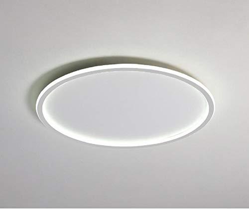 Runde ultradünne kreative LED-Deckenleuchte Mitte hohl einfaches Wohnzimmer Schlafzimmer Studie Esszimmer dekorative Lampe ultimative einfache Lampe-40CM_Weißer Rand-Fernbedienung steuern Helligkeit
