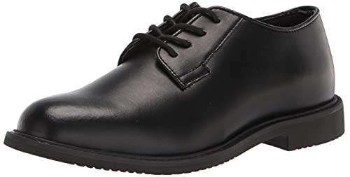Bates Women's Sentry Oxford HIGH Uniform Dress Shoe, Black Shine, 5.5 Wide