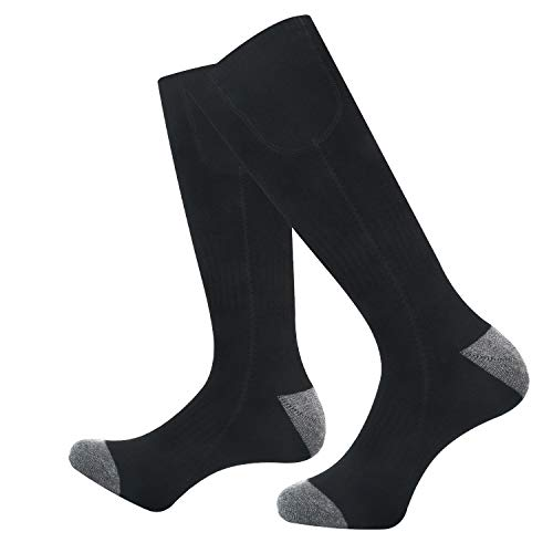 Jomst Heated Socks for Men Women, Rechargeable Electric Battery Powered Sox,3 Heating Settings Heated Sock for Skiing Hunting, Fits US Size 6-14.