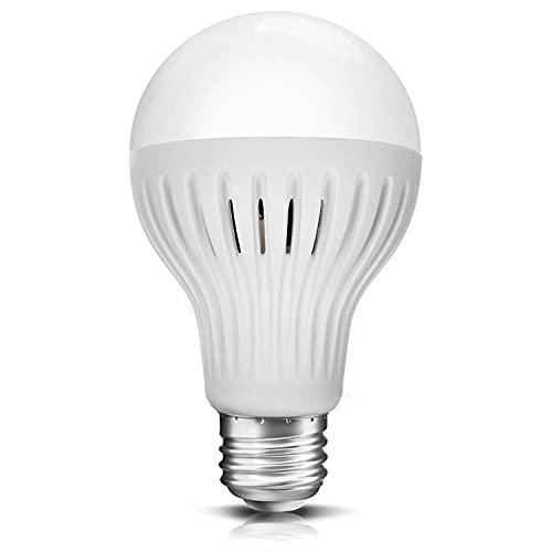 Maclean MCE177 Ampoule LED E27 9W 230V Blanc, capteur de Mouvement Micro-Ondes et CR�puscule (9W, Blanc Chaud)