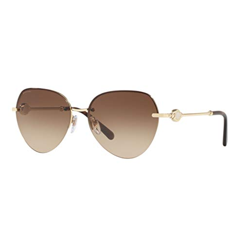 Bvlgari Gafas de Sol BV 6108 PALE GOLD/BROWN SHADED mujer