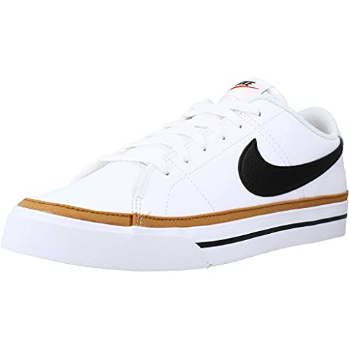 Nike Court Legacy, Zapatillas Deportivas Hombre, White Black Desert Ochre Gum Light Brown, 42 EU