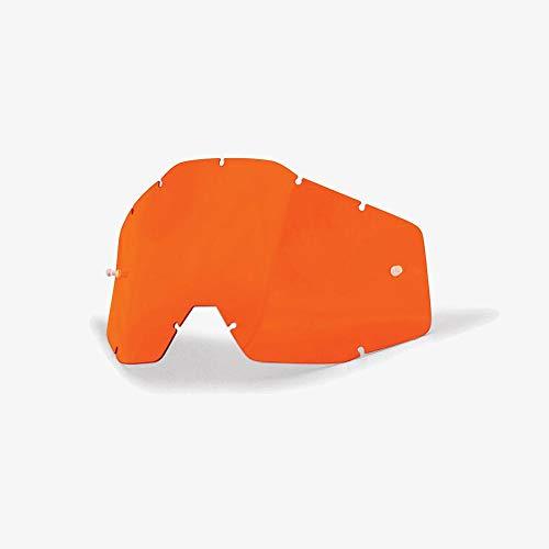 100% Goggle Replacement Lens (Anti-Fog-ORANGE) Racecraft 1, Accuri 1, Strata 1 Compatible
