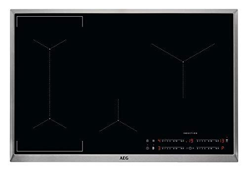 AEG IKE84441XB Autarkes Kochfeld / Herdplatte mit Touchscreen, Topferkennung & Hob²Hood-Funktion / Induktionskochplatte / 4 Kochzonen / Edelstahlrahmen / 80 cm