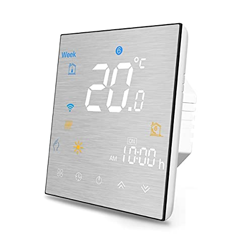QAIYXM Wi-Fi Smart Thermostat, Programmable Temperature Controller with Children lock functionl, for water heating/water boiler/gas boiler, Works with Alexa Google Home