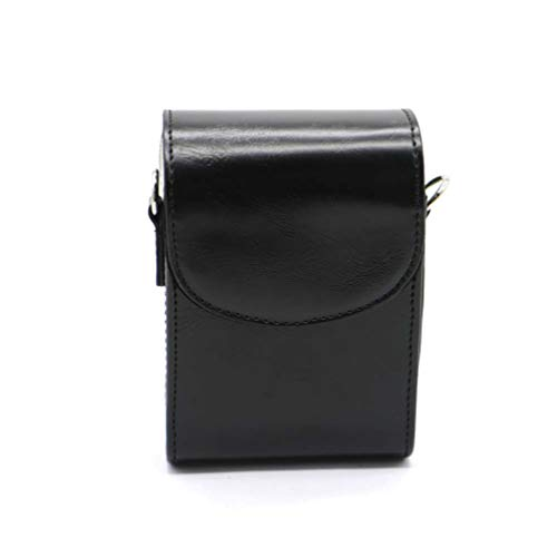 PCTC Protective Leather Camera Case, Digital Compact Point and Shoot Camera Bag with Adjustable Shoulder Strap Compatible with Canon PowerShot G7X Mark III G7 X Mark II G7 X G9 X II G9X Sony RX100M6