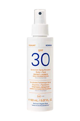 KORRES YOGHURT Sonnenschutz Sprüh-Emulsion für Gesicht & Körper SPF30, 150 ml
