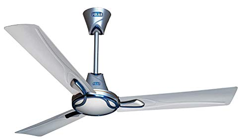 Polar Spright 1200mm ceiling fan (Pearl Silver-Metallic...