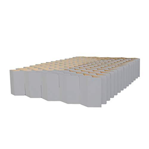ROOM IN A BOX Bett 2.0 M/Grau: Klappbett aus Wellpappe 120 140 x 200 cm und Zwischengrößen. Auch als Gästebett. Lattenrost Nicht nötig.