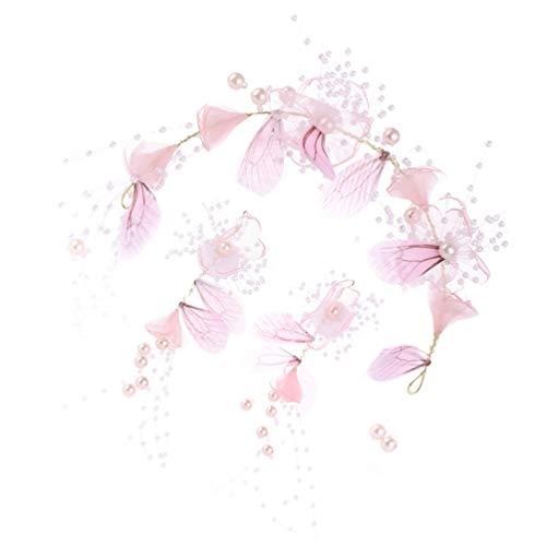 Lurrose 1 Juego de Pendientes de Diadema de Mariposa Conjunto de Accesorios Creativos para El Cabello