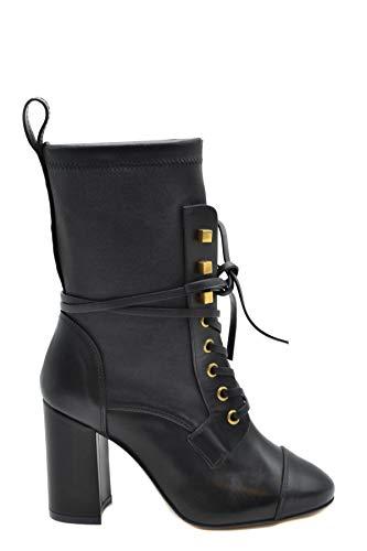 Luxury Fashion | Stuart Weitzman Dames MCBI39236 Zwart Leer Enkellaarzen | Seizoen Outlet