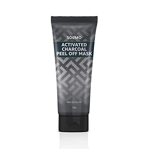 Amazon Brand - Solimo Acne Control Charcoal Peel-off Face Mask 100g