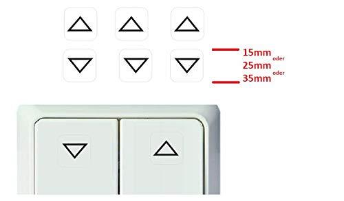 Generisch 3 Stück Schalter Aufkleber Rauf Runter Symbol Schalteraufkleber (RT25/14) (25 x 25 mm)