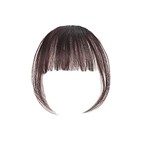 Fengyuanhong Women Girls Wig Air Bangs Mini Traceless Light Invisible Fake Bangs Hair Pad Liu Hai Tablets