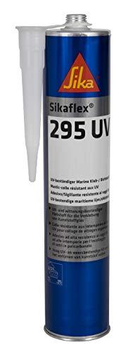 Sikaflex 295 UV, Blanco, Adhesivo para el pegado y sellado de acristalamientos plásticos en botes y barcos, resistencia UV, 300ml