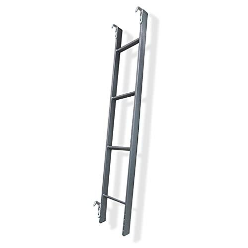 Escaleras Plegables Alto Escalera de Cama con Ganchos Ajustable Escalera para Literas...