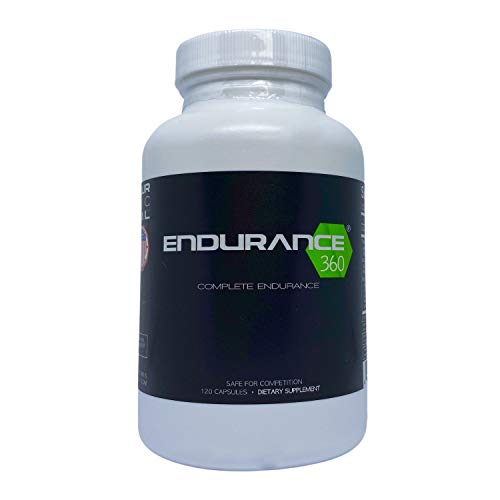 Endurance360 Complete Sports Performance for Runners, Cyclists, Triathletes and Ultra Athletes. Designed for Aerobic Energy, Recovery, Boost Vo2 Max, Muscle Cramp with Electrolytes and Aminos