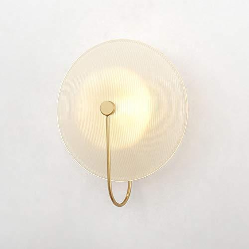 De enige goede kwaliteit Decoratie Creatieve Persoonlijkheid Woonkamer Wandlamp Art Glas Naast Een Slaapbank Slaapkamer Wandlamp 1 * G4 (25 * 30CM)