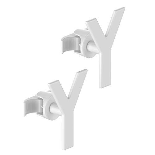 2 Handy minimal buisvormige - handdoekbeugels voor buisvormige radiator met meerdere kolommen - ze worden rechtstreeks op de buisvormige radiator bevestigd - Yes
