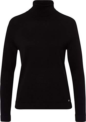 BRAX Damen Style Lea Feel Luxury Rollkragen Pullover, Black, (Herstellergröße: 40)