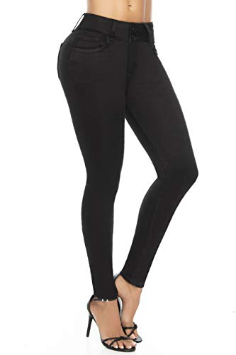 ADVENTURE Colombian Butt Lift Jeans for Women Pantalones Colombianos Levanta Cola (1693 Black, USA 11 / COL 16)