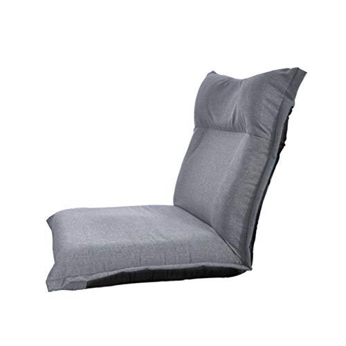 LC-SHBAGS Stoel, Single Casual vloerstoel, creatieve Japanse tatami klapstoel, slaapkamer bed sofa stoel, leunstoel verstelbare taille kop (grijs)