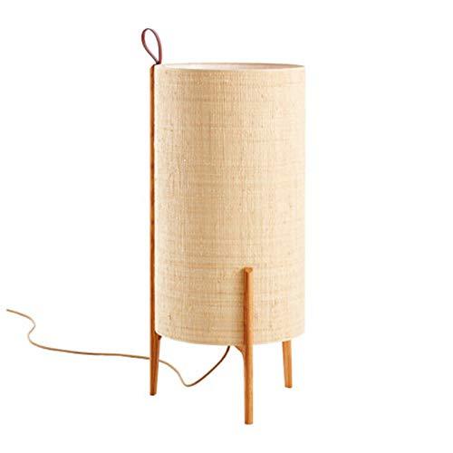 Lámpara LED pie, Sala de Estar nórdica Sofá Dormitorio Sala de té Japonesa de Madera Simple Chino Chino Tela Mesa Nivel de energía de la luz de Lectura de protecció