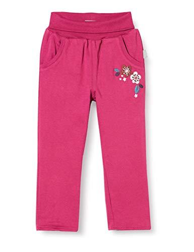 Sigikid Baby-Mädchen Wendehose aus Bio-Baumwolle, Größe 062-098 Freizeithose, Pink/Blumen, 86
