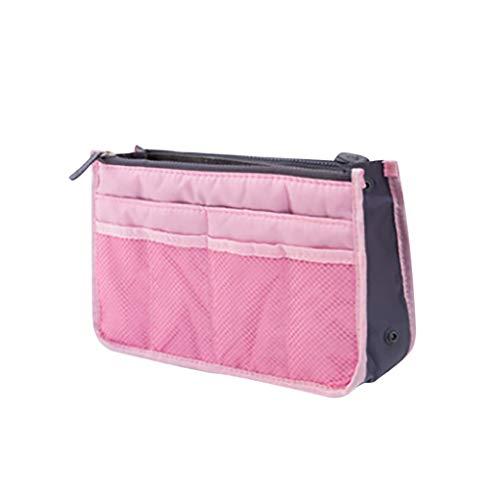 Lomsarsh Organisateur de sac à main - Sac de rangement pour dames Grand sac de rangement extensible Organisateur de cosmétiques Sac de rangement Tuyau pochette Fermeture à glissière