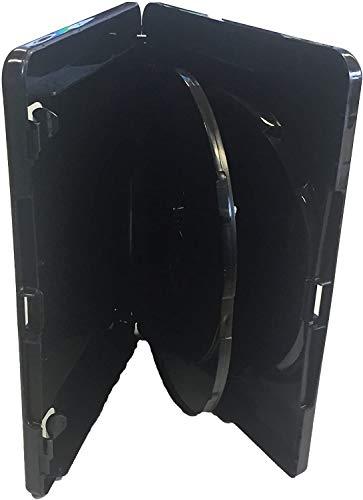 Vision Media - 5pcs x 4K Ultra HD Triple Black Blu Ray Case - Stores any Blu Ray/DVD/Games disc
