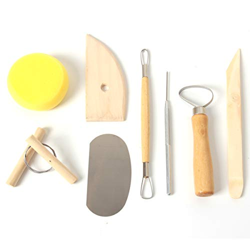 YALANSMAIP8 개 점토 도구 점토 도자기구 나무로 조각하는 도구 세트 중합체 점토 도구를 클레이 모델링 도구에 대한 초보자 수준