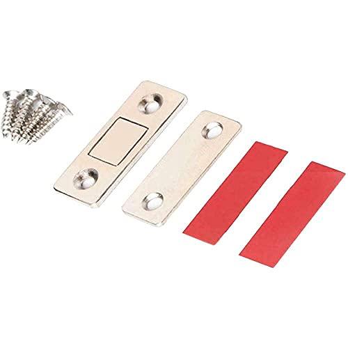 zhaita - Ultratunn magnetisk dörrstoppare, glasskåp, garderob, skjutdörr, noll utrymme magnetisk dörrstoppare, osynligt magnetiskt lås