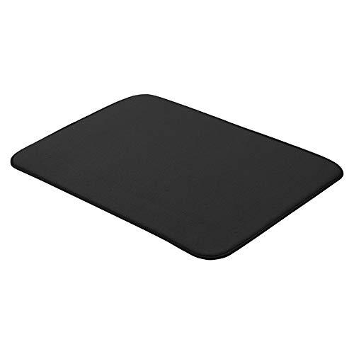 AmazonBasics - Esterilla de secado, 47,7 x 60,9 cm, color negro, 2 unidades