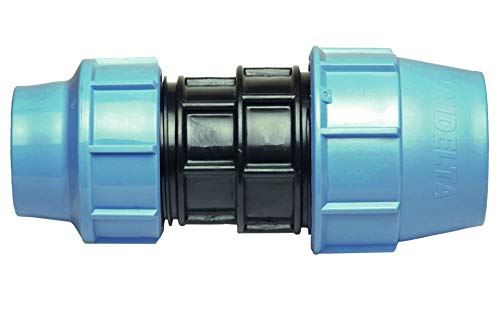 BFG mm auf 25 mm Reduziermuff MDPE PE-Wasserrohr, Kunststoff-Buchse, Adapter, OU-YTXJ-LFI4, blau, schwarz, 32 mm x 25 mm
