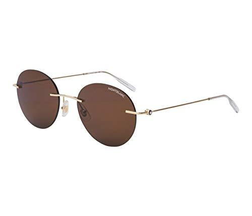 Gafas de Sol Mont Blanc MB0073S GOLD/BROWN 54/19/145 hombre