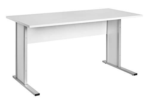 Möbelpartner Manni Schreibtisch, lichtgrau, ca. 140,0 x 65,0 x 72,2 cm