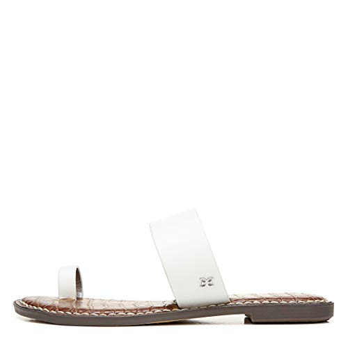 Sam Edelman womens Gorgene Slide Sandal Bright White 6.5 M