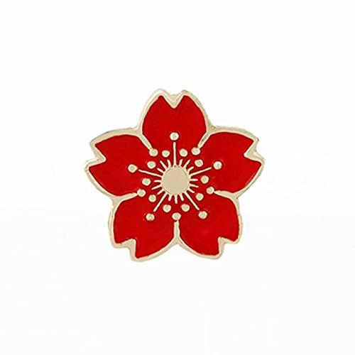 Broche de flor de cerezo dulce flor japonesa Sakura esmalte Pins mochila botón solapa Pin insignia mujeres joyería regalo mujer