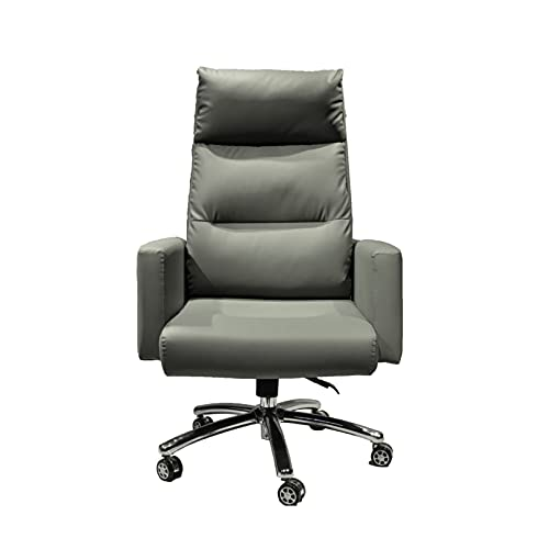 Bürostuhl Leder Executive Computer Stuhl mit hoher Rückenlehne, für Komfort und ergonomisches Design für Lordosenstütze, Grün
