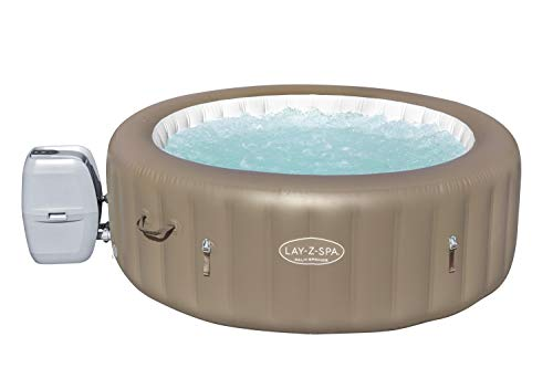 Lay-Z-Spa Palm Springs Hot Tub, 140 Inflatable Spa with Freeze Shield Technology, Beige, 4-6 Person