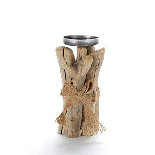 SD&EY Treibholz-Kerzenständer-Hölzerner Kiefern-Kegel-Stumpf-Weihnachtsbaum-Kerzen-Halter Für Hauptdekor-Hochzeits-Geschenk,Stump